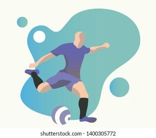 fotball player ready for shoot