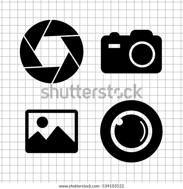 Foto Camera Vector Icon Set Stock Vector (Royalty Free