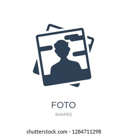 foto icon vector on white background, foto trendy filled icons from Shapes collection, foto vector illustration