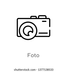 foto vector line icon. Simple element illustration. foto outline icon from shapes concept. Can be used for web and mobile