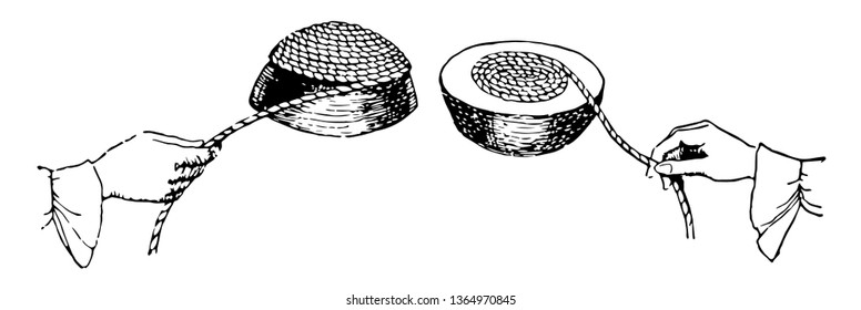 It is found that the wrapping surface of the cable again covers the flat surface for a longer time. Therefore, the area of the entire curved surface of a hemisphere is equal to the surface of 4 cycles