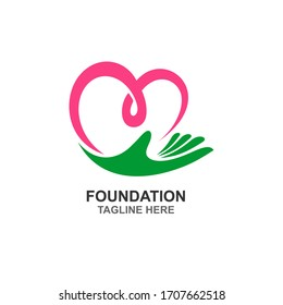 Foundation and charity logo design