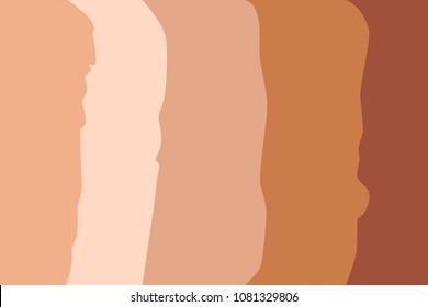 Foundation cream different tone.  Flat design. Vector illustration