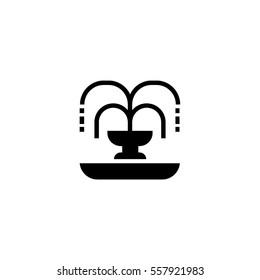 Fountain black icon