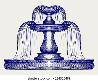 Fountain. Doodle style