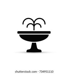 Fountain flat icon. Vector isolated minimal illustration.