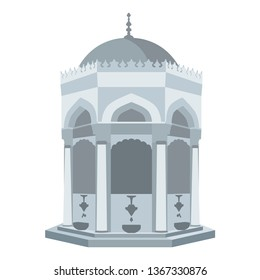 Fountain, Historic ottoman fountain, vector,
