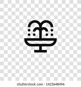 fountain icon from miscellaneous collection for mobile concept and web apps icon. Transparent outline, thin line fountain icon for website design and mobile, app development