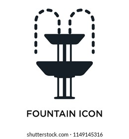 Fountain icon vector isolated on white background for your web and mobile app design, Fountain logo concept