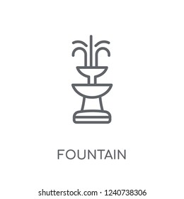 Fountain linear icon. Modern outline Fountain logo concept on white background from Architecture and Travel collection. Suitable for use on web apps, mobile apps and print media.