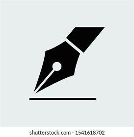 Fountain pen icon design vector illustration