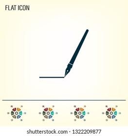 Fountain pen icon, flat design