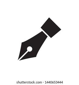 fountain pen icon vector design simple template