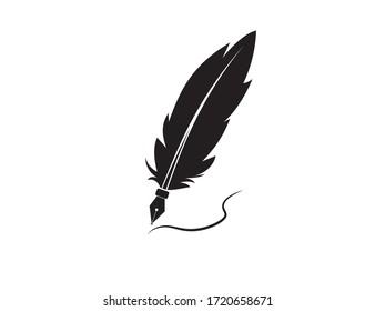 A fountain pen. Icon. Vector illustration.