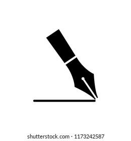 fountain pen icon vector template