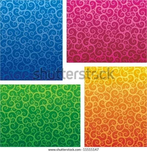 Four Abstract Scrollwork Backgrounds Prints Patterns Stock Vector Images, Photos, Reviews