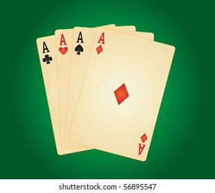 four aces. vector illustration