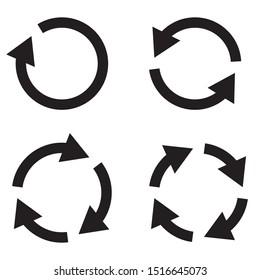 Four arrow icon vector set