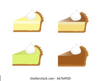 Four Assorted Pie Slices