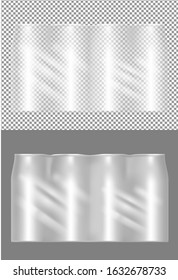 Four beer cans transparent packaging