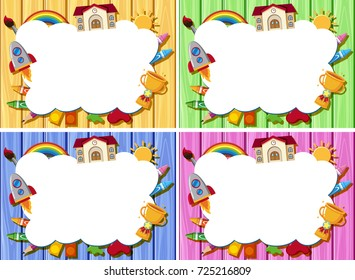 crayon border images stock photos vectors shutterstock