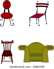 Four chairs as a vector