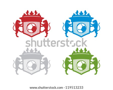 Four Colored Blank Soccer Crests