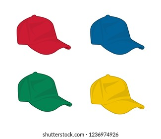 four colorful hat