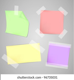 Four Colorful Messages papers set