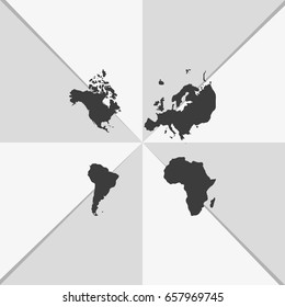 Four continents icon.