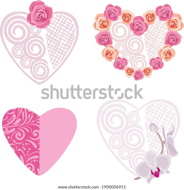 four-decorative-hearts-roses-orchids-600