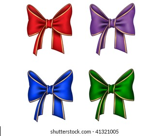 Four different bows