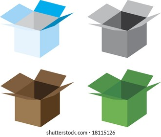 four different boxes