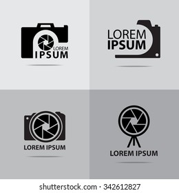 four different camera logo design