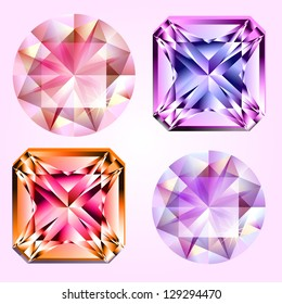 Four different kind of gems