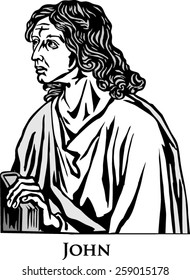 The four Evangelists. Saint John.