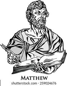 The four Evangelists. Saint Matthew.