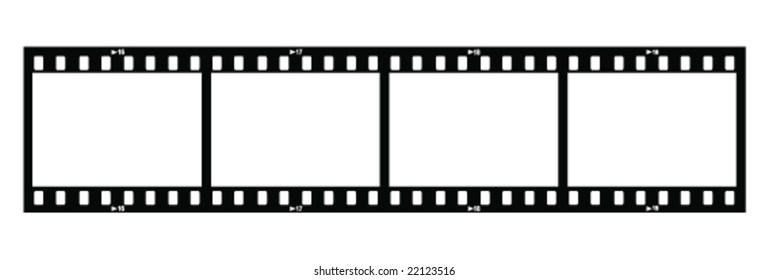 Four Film Strips (With Holes)