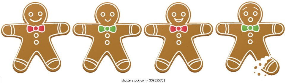 Four gingerbread men