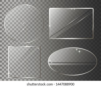 Four glass banners for business