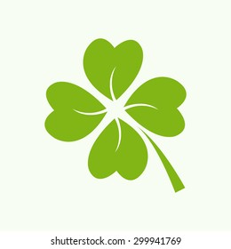 Four green leaf clover - vector