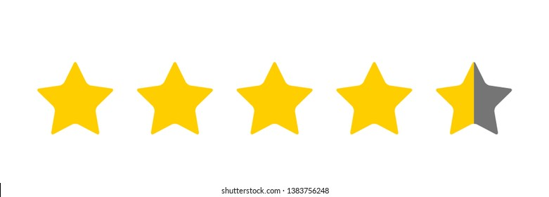 Four And A Half Star Rating Illustration Vector