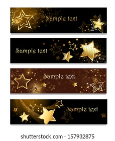 Four horizontal banner with gold stars on dark background.