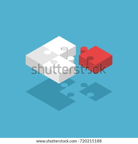 026a81df80a2 Four Isometric Puzzle Pieces Three White Stock Vector (Royalty Free ...