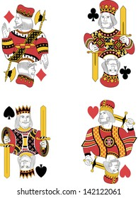Four kings without cards. Original design