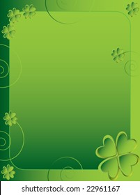 Four leaf clover background 1 - vector