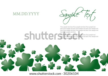 four leaf clover card invitation template stock vector royalty free