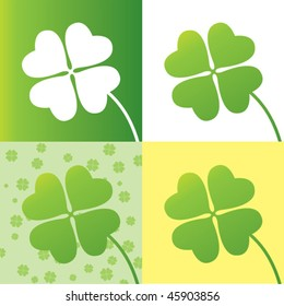 four leaf clover design with four options