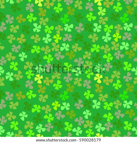 Four Leaf Clover Good Luck Symbol Stock Vector Royalty Free