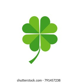 Four leaf clover icon, luck symbol. Vector illustration